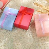 Cardboard Jewelry Gift Boxes With bow-knot Necklace Ring Earrings Pendant