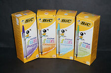 BIC Medium Ball Pen Crystal Biro coloured Ballpoint Pen Brand New Free UK Post