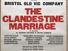 Original 1960's Poster: THE CLANDESTINE MARRIAGE Leonard Rossiter & Peter Bowles