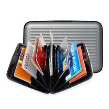 Cartera de aluminio tarjetero organizador tarjetas anunciada Aluminio Wallet