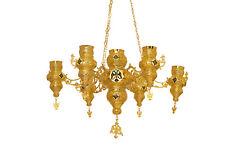 Orthodox Christian Byzantine Chandelier 7 vigil lamp lampadas for Holy Gates