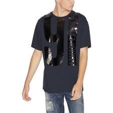 Armani Exchange Mens Black Cotton Graphic Tee Logo T-Shirt L BHFO 6054
