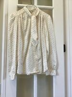 EVAN PICONE WOMANS LONG SLEEVE BLOUSE SIZE 12 100% POLYESTER EUC