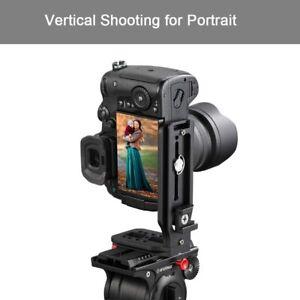 Quick Release DSLR Camera L Bracket Plate For Tripod Head Mount Vertical Shoot