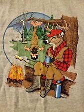 90% Cotton Deer & Hunter T-Shirt Men's 3XL - Gray