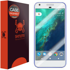 5.5 inch Full Coverage Skinomi Brushed Aluminum Full Body Skin Compatible with Google Pixel XL TechSkin with Anti-Bubble Clear Film Screen Protector