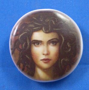 Birchcroft  China Button - Greek God Medusa - One Inch Size ( 25 mm )