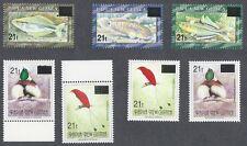 PAPUA NEW GUINEA 876-878D Mint NH Emergency Overprints