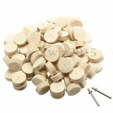 100pcs 13x7mm Wool Felt Polishing Buffing Round Wheel Tool + 2 Shank For Dremel