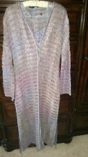 New Listing - Italian Open Weave Silk Knit Duster & Shell  42  Made in Italy