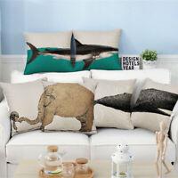 Cartoon Animal Fish Linen Pillow Case Sofa Car Throw Cushion Cover Home Decor