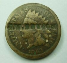 """1862 Indian Penny Counter stamped / Storecard - """"J.W. BRYSON"""""""