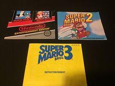 Super Mario Nes Manual Lot