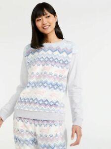 NEW Peter Alexander Fair isle Pyjama top & pants set Size S