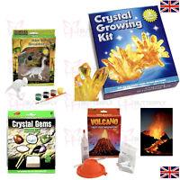 Children's Science & Creative Kits - Crystal Growing, Dinosaur Painting Volcano