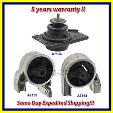 Engine Motor Mount Set 3PCS for 2006-2011 Hyundai Accent / KIA Rio Rio5 1.6L