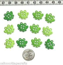 Novelty Buttons Frogs Sewing Embellishments Quilting Craft Knit #225