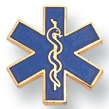Star of Life Jacket Pin, Paramedic Lapel Pin, Medical Award Pin