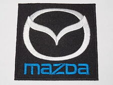 MOTORSPORTS RACING CAR SEW ON / IRON ON PATCH:- MAZDA (a) SILVER WINGS