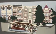 "PATTI HARRIS GOOGE ""SAN FRANCISCO CABLE CAR"" SERIGRAPH"