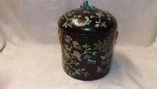 Qing Dynasty Ceramic Pottery Stoneware Great QingTong Zhi Period Lidded Vase