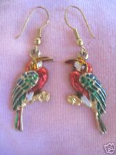 Dangling Bird Earrings Vintage Colorful Figural
