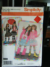 Simplicity 2522 Girl's Fun Costumes Pattern-Sizes 7/8/10/12/14
