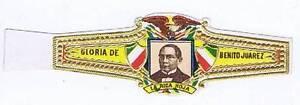 Gloria de Benito Juarez La rica Hoja  Mexico   cigar band
