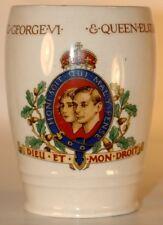 1937 KING GEORGE VI & QUEEN ELIZABETH CORONATION POTTERY MUG