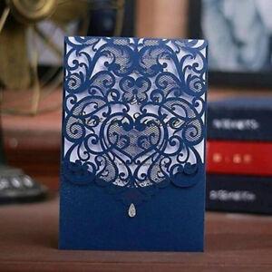 Laser Cut Wedding Invitations Kits 50 Packs Laser Cut Invitations for Wedding