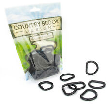 25 - Country Brook Design® 1 Inch Steel Welded Powder Coated D-Rings