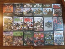 18 Hunting Dvd Lot; Deer. etc. 10 used Monster Bucks. 8 other are New. Sports.