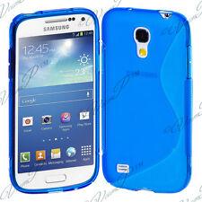 ACCESSOIRES HOUSSE ETUI COQUE SILICONE S BLEU Samsung Galaxy S4 mini i9190 i9195