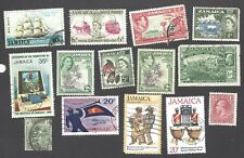 JAMAICA - FOURTEEN DIFFERENT MIXED STAMPS