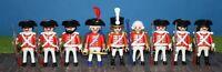 Playmobil Englische Soldaten 9 Stück  Garde Rotröcke BRITEN MARINE  # 11