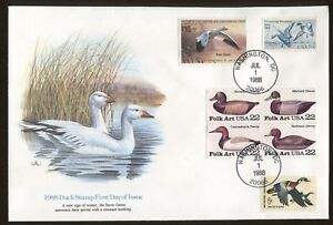 1988 Washington DC Duck Stamp #RW55 Don Balke Fleetwood First Day Cover