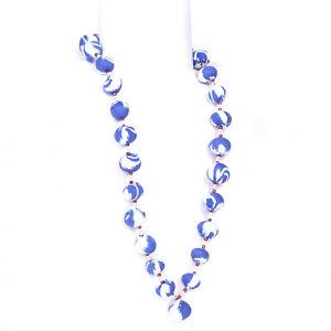 Women Fashion Necklace Fabric Choker Fashion Jewelry Blue Long Ladies Pendant