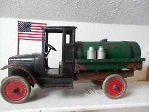 Buddy L 1920's Tanker pressed steel