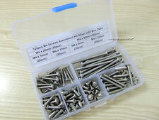120pcs M4 Phillips Head Screws Assortment Kit Silver with Box D024