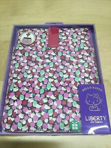 """Tablet Sleeve Apple iPad 2/3/4 9.7"""" Magnetic Close Pink Hello Kitty Liberty New"""