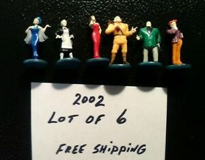 Clue 2002 Suspect PAWNS TOKENS Lot of 6 Game Replacement Pieces Parts FREE SHIP