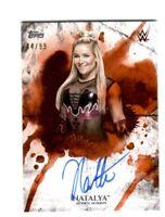WWE Natalya 2018 Topps Undisputed Orange On Card Autograph SN 44 of 99