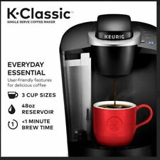 Keurig K-Classic K50 Single Serve K-Cup Pod Coffee Maker, Black NEW