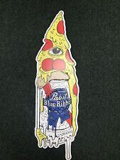 Pabst Blue Ribbon Beer Can Pizza Tacker Tin Sign