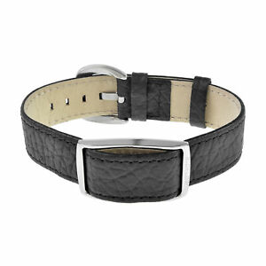Bioflow Magnetic Therapy Executive Black Leather Wristband - From Bioflow Direct