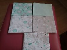 DISNEY DUMBO FAT QUARTER BUNDLE, 5 PIECES 100% COTTON LIMITED EDITION BNWOT