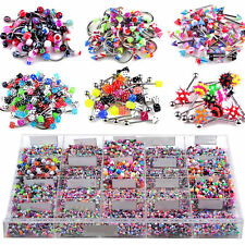 130PCS Wholesale Bulk lots Eyebrow Jewelry Belly Body Piercing Tongue Bar Ring N