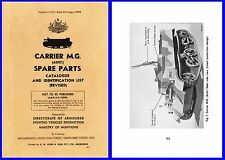 Carrier Machine Gun ( Bren Gun ) Aust Parts List Illustrated 1943 on CD