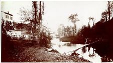 Photo Pictorialisme - L'Azergues - Tirage citrate panoramique 16 x 30 cm -
