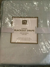 """Pottery Barn Teen Ombre Blackout Curtain 96"""" Light Turquoise NEW"""